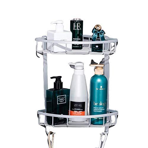 Baibao wandgemonteerde badkamer hoek planken zonder boren - douche Shampoo mand - aluminium douchebak driehoek