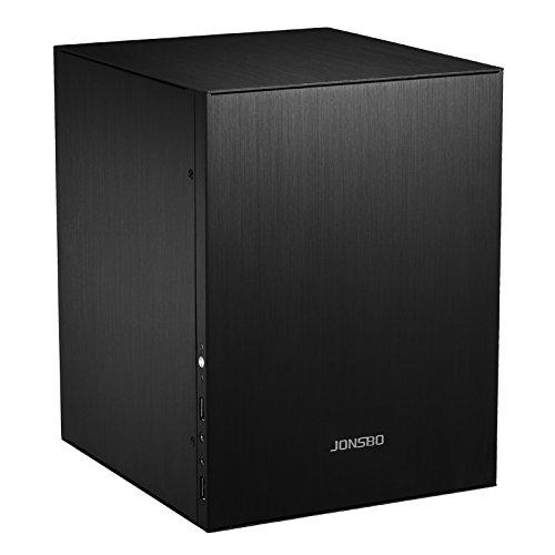 Jonsbo C2 MINI-ITX Computergehäuse, PC Hülle, Micro Atx, Gaming PC Case, PC Gehäuse Klein, Dezentes Design Computer Gehäuse, Schwarz