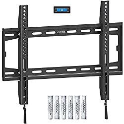"""Universal VESA Compatibility - Our TV bracket fits for most of 26""""-55"""" TVs with VESA from 75x75mm to 400x400mm. Max. weight capacity up to 45.5KG. NOT for drywall alone installation! Ultral Compact Design - Fixed wall bracket can place your TV close ..."""