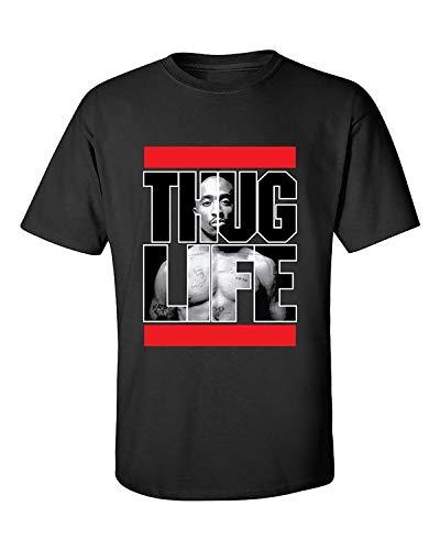 Fashion Men's Summer T-Shirt Tupac 2Pac Thug Life Rap Hip-Hop Artist Tupac Shakur T-Shirt
