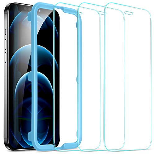 ESR Tempered-Glass Screen Protector for iPhone 12 Pro Max [3-Pack] [Easy Installation Frame] [Case-Friendly] Premium Tempered Glass Screen Protector for iPhone 12 Pro Max 2020, 6.7-Inch