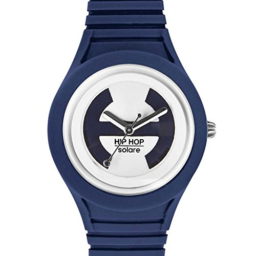 Hip Hop Watches - Orologio da Donna Deep Ocean HWU0536 - Collezione Solare - Cinturino in Silicone - Impermeabile 5 ATM - Cassa 34mm - Blu Scuro