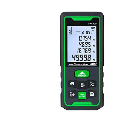 Release Misuratore di Distanza Laser Telemetro Digitale Verde 100 m 70 m 50 m Misuratore di Distanza Metro a Nastro Righello di Livello elettronico Roulette (Size : 100M)