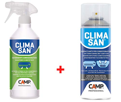 Trattamento Sanificante ed Igienizzante Completo Climatizzatori Detergente + Igienizzante Climasan Camp