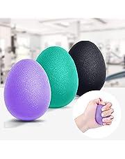 Peradix handtränare fingertränare äggformade greppbollar 3 st 30–60 lbs klättring boll hand träningsredskap antistressbollar för att stärka handen och fingrarna, tryckavlastning