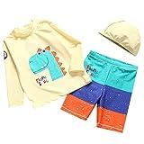 AIWUHE 2er Set Bade-Set Baby Langarm Bademode Taucheranzug Schwimmanzug mit Badekappe Beachwear...