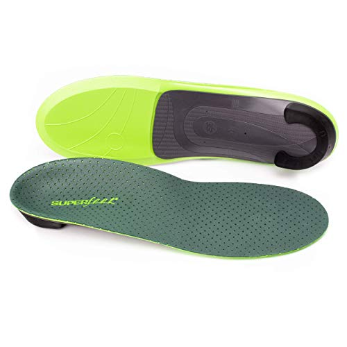 Superfeet Everyday Pain Relief Insoles, Customizable Heel Stability Professional-Grade Orthotic, Medium/D: 8.5-10 US Womens / 7.5-9 US Mens
