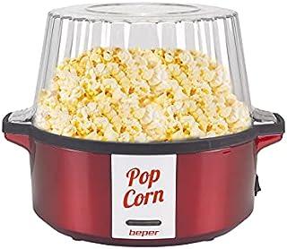 BEPER P101CUD050 Machine à pop-corn, 700 W, revêtement antiadhésif, cuisson avec beurre/huile, pelle rotative en acier, co...