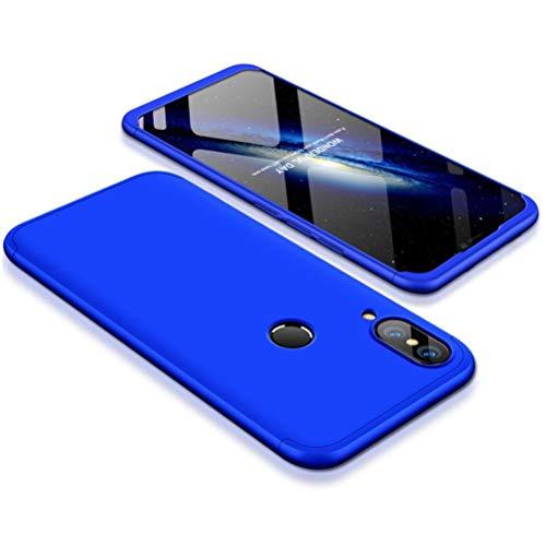 Yoodi Capa para Huawei Nova 3, 360 cobertura total 3 em 1 capa removível fosca rígida de policarbonato anti-arranhões à prova de choque para Huawei Nova 3 - azul