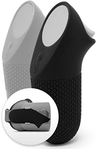 Dual Skin Set + Befestigungsclip für Oculus Go Controller – Premium Gel Shell Silikon Grip Cover W/Low Profile Traction Diamonds (2er Set + Clip) Headset & Controller nicht im Lieferumfang enthalten