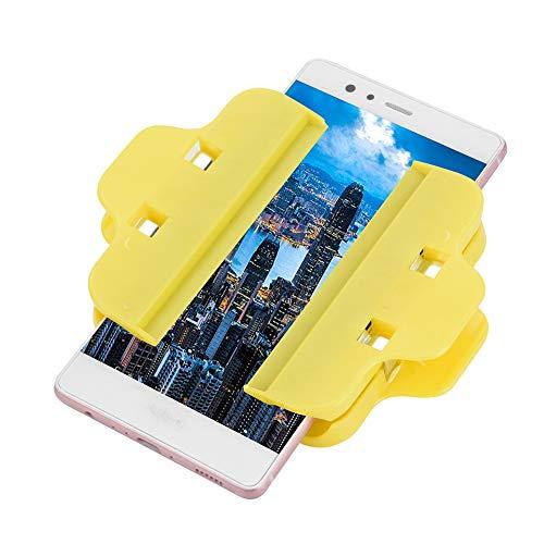 Meiyya Abrazadera de sujeción de Accesorio de sujeción Universal, Accesorio de Clip de plástico, Amarillo para Mantenimiento de teléfono Reparación de teléfono