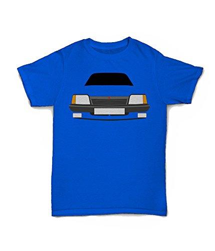 Minimalist Vauxhall Cavalier Mk2 Blue T-shirt for Men