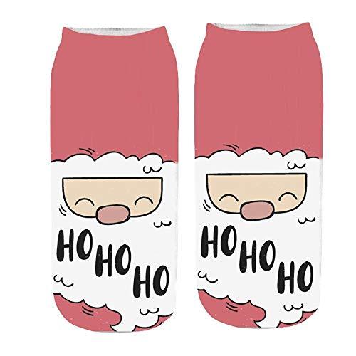 TIGERROSA kousen dames 3D cartoon unisex short sokken Funny Christmas Crazy schattig geweldig nieuw print sokjes Fashion Cotton Socks Style A