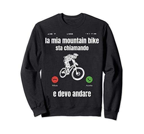 Mountain Bike Divertente Ciclista Bicicletta Bici MTB Regalo Felpa
