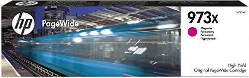 HP 973X F6T82AE Cartuccia Originale da 7000 Pagine, ad Alta Capacità, Compatibile con le Stampanti HP Pagewide Serie Pro 452, 477dw e PageWide Managed P57750dw, P55250dw, Magenta