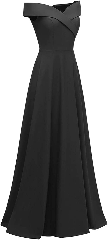 Women Elegant Vintage Dress,FAPIZI Summer Fashion Solid Sleeveless Pleated Casual Evening Party Long Swing Dress