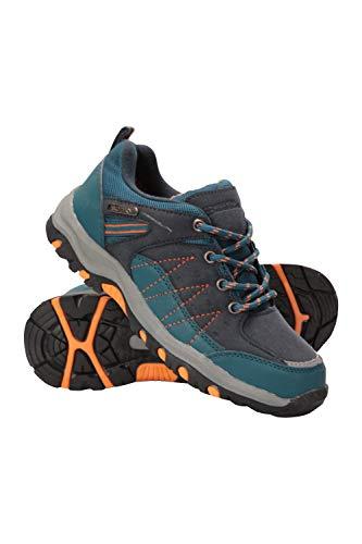 Mountain Warehouse Zapatillas Stampede para niños - Zapatillas de Correr con Suela de Gran Agarre, Zapatillas Impermeables, Zapatillas de Verano con Empeine Azul petróleo 34