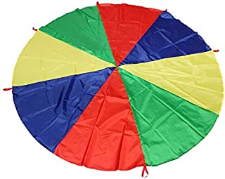 SciencePurchase 12' Play Parachute with 8 Handles
