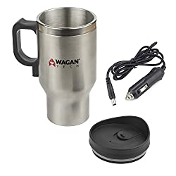 cheap Wagan EL6100 12V 16oz Stainless Steel Travel Mug, Heated with Spill Prevention Lid, 1 Pack