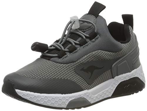 KangaROOS Unisex dziecięce buty typu sneaker Kadee Bop, Szary Steel Grey Jet Black 2019, 29 EU