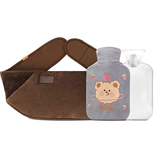 Mopoin Botella de agua caliente con tapa, bolsa de agua caliente Calentadores...