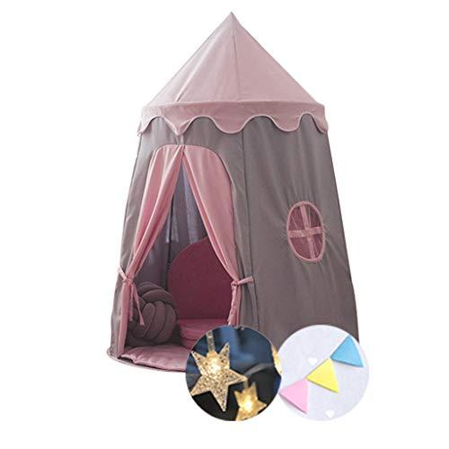 Tiendas de Niños Tienda De Juegos Infantiles para Niños, Castillo De Pink Princess, Fácil De Instalar, Tienda De Niños Plegables, 110x1500cm, 2 Colores (Color : Style 1)