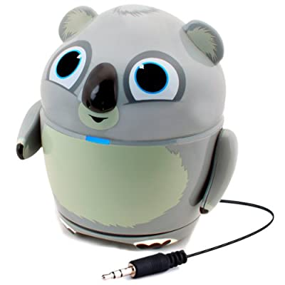 """GOgroove Portable Wired Speaker with Koala Animal Design & 3.5mm Plug for Phones , Tablets , etc - Works with BTC Flame UK 7"""" , Allwinner A13 7"""" , ProntoTec KidTab 7"""" , Haehne 7"""" , Jellipad , Little Fingers ExplorerTab , Tabl-it & More from GOgroove"""