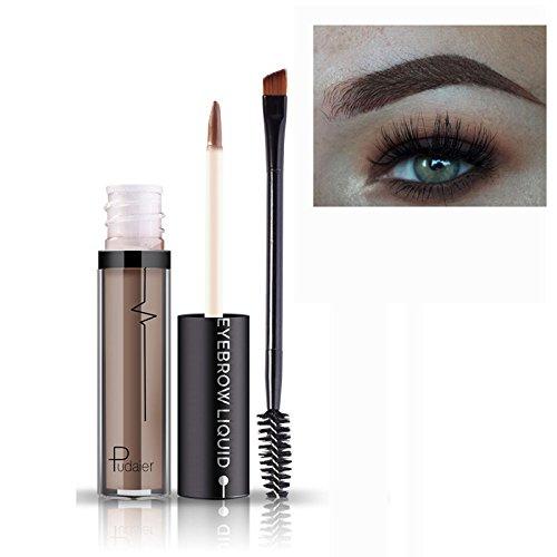 Impermeable Sourcil à Longue Durée de vie Gel Paupières Liquide Maquillage + Brosse #3