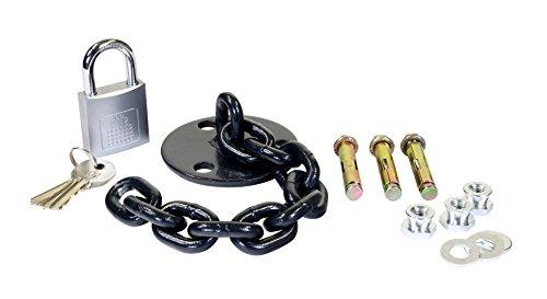 LocknCharge LNC10010 Lock Down Kit met kettingen en bouten voor transportwagen, zwart