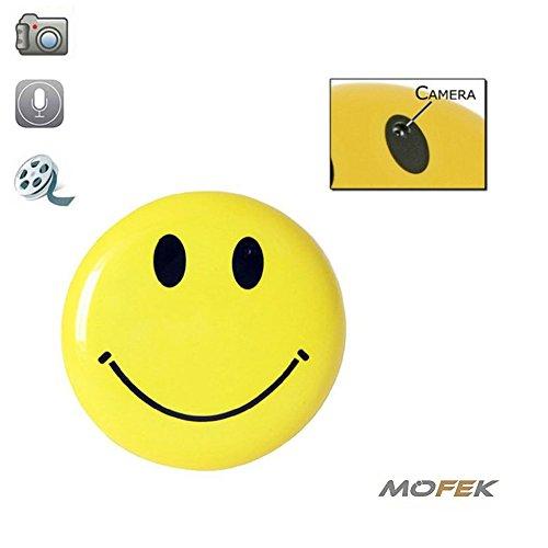 Mofek - Smiley-stekker met verborgen spionagecamera - real-time - inclusief geheugenkaart van 8 GB