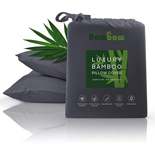 Bambaw Bamboo Pillow Case | 2 x Pillow Cases |Bamboo Pillow Covers...