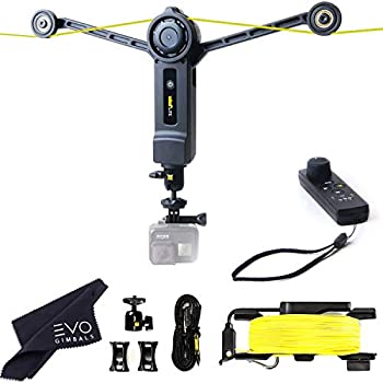 Wiral LITE Cable Cam with Remote for Action Cameras Smartphones 360 Camera or DSLR Mirrorless Cameras up to 3.3LBs - Film Moving Shots Even Where Drones Can t Go