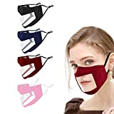 Reusable Clear Transparent Face Mask For Adult Women Men See Through No Fog Funny Breathable Clarity Adjustable Designer Black Cute 3D Fashionable Free Plastic Anti Thru Windows Teacher Gifts