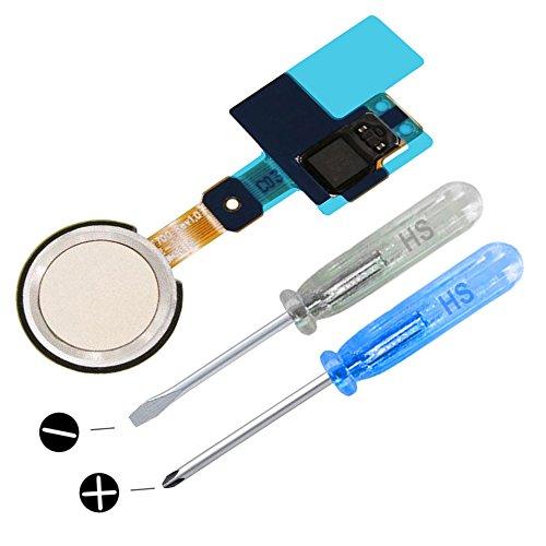 MMOBIEL Home Button Fingerprint Sensorkompatibel mit LG G5(Gold) mit Flex Kabel inkl Schraubenzieher