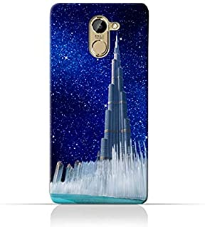 Infinix Hot 4 X557TPU Silicone Protective Case with Burj Khalifa and Water Fountain on a Starry Night Design
