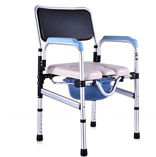 LFNIU Klappstuhl Duschstuhl Alter Mann auf dem Stuhl sitzend Behinderte Toilette Toilettensitz Schwangere Frau Umzug Toilette Badestuhl Umzug Toilette