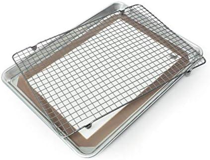 Nordic Ware Natural Aluminum Commercial Baker's Half Sheet and Baker's Quarter Sheet