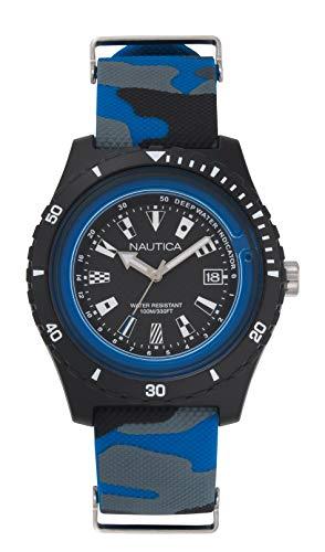 Nautica Unisex Erwachsene Quarz Uhr mit Silikon Armband NAPSRF009