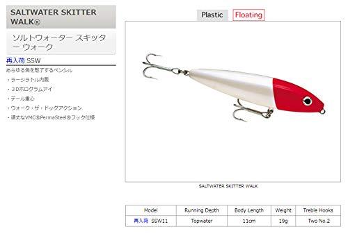 ラパラ(Rapala) ソルトウォータースキッターウォーク11cm 19g ホットチャートリュース SALTWATER SKITTER WALK SSW11-HCH