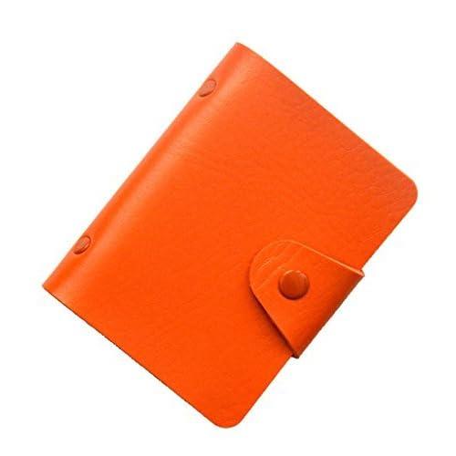 Brilliance Co Porta Carte Di Credito 24 Spazi (Arancione)
