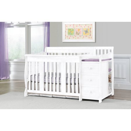 Storkcraft Portofino Convertible Crib and Changer,White