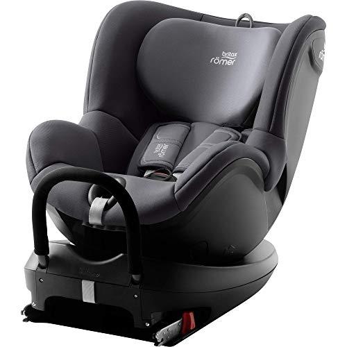 BRITAX RÖMER silla de coche DUALFIX2 R, Giratoria a 360 ° y con fijación ISOFIX, niño de 0 a 18 kg (Grupo 0+/1) desde el nacimiento hasta los 4 años, Storm Grey