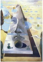 1art1 Posters: Salvador Dali Poster Art Print - Apparition of The Visage of Aphrodite of Cnide in A Landscape (32 x 24 inches)