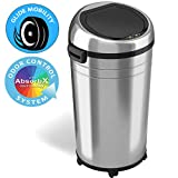 iTouchless Touchless 23 Gallon Commercial Size Sensor Trash Can kitchen-waste-bins, Stainless Steel