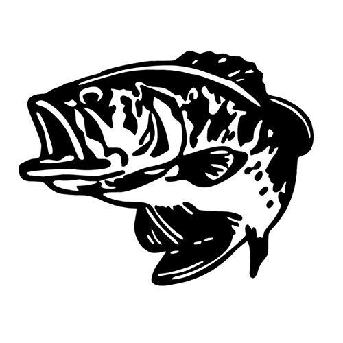 YINGGUICHENG Shop Ventana 14x11.4CM Bass Pescado Grande Pesca Boca Divertida del Coche...