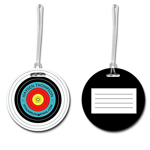 Personalized Archery Target Round Luggage Tag