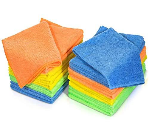 MASTERTOP Confezione da 20 Panni in Microfibra per la Pulizia della Polvere e della Polve