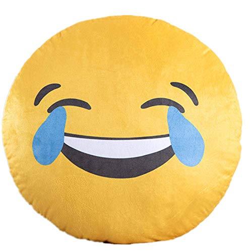 Kissen Emoji Druck Umarmung Kissen Plüsch Spiel Kissen Kinder Spielzeug Kissen 40 * 40cm/ Lachende Tränen