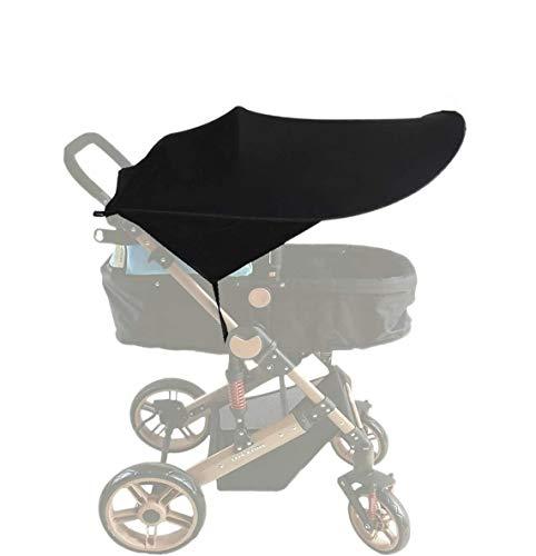Parasol Cochecito Bebe - Toldo Protector Solar Universal para Cochecitos Capazos Carrito de Bebé Sillas de Paseo Sombrilla Parasol Protección UV contra el Viento Accesorios para silla de paseo