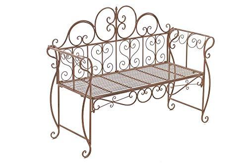 CLP Gartenbank Minna aus lackiertem Eisen I Sitzbank im Jugendstil I Eisenbank mit 2-3 Sitzplätzen I erhältlich, Farbe:antik braun